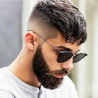 Long Crop with High Fade and Beard
