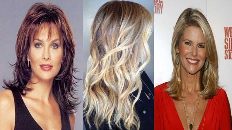 Long Hairstyles for Women Over 40 Years