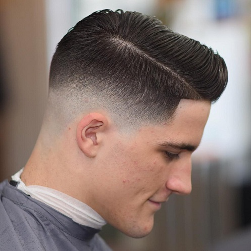 Low Skin Fade with Long Comb Over