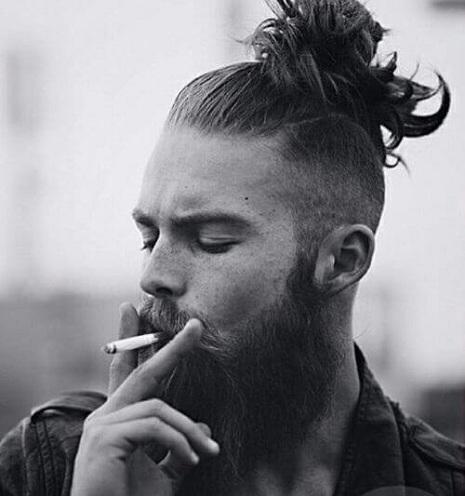 Man Bun Hipster Hairstyle