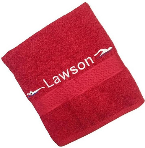 Embroidered personalised Towels