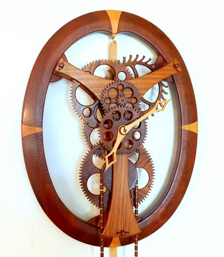 Mechanical Wooden Clock