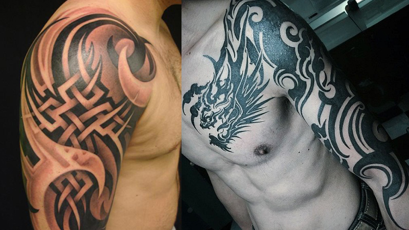 Mind Blowing Tribal Shoulder Tattoos for Men
