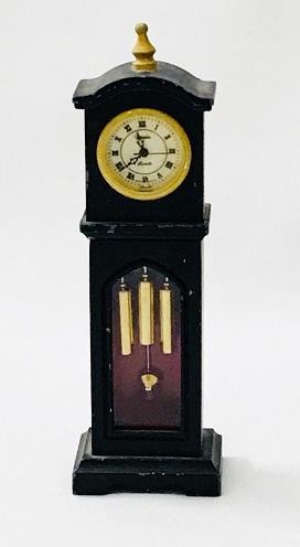 Miniature Vintage Black Grandfather Clocks