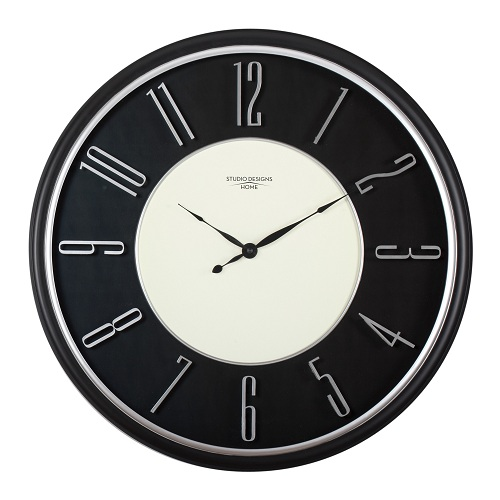 Modern Raised Numeral Wall Clock