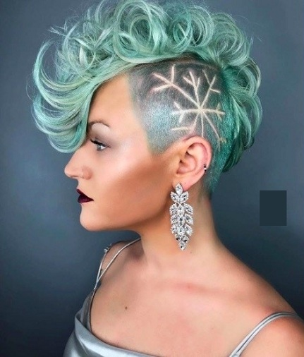 Mohican Cut Punk Hairstyle