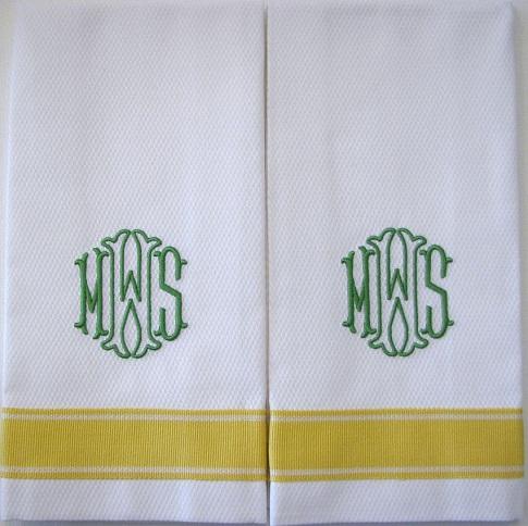 Monogram Personalised Towels