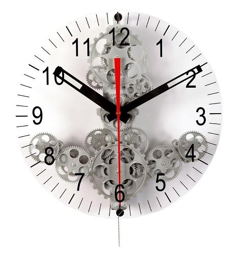 Moving Gear Modern Wall Clock