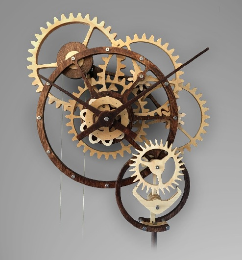 Multi Gear Mechanical Clock