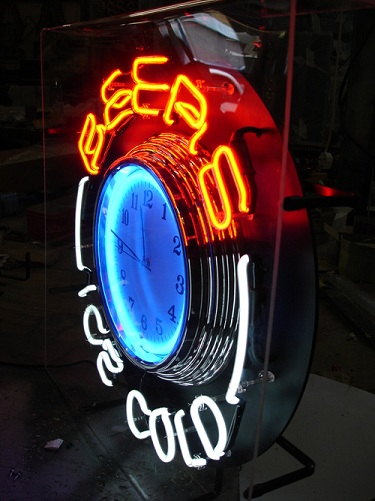 Neon Beer Clocks
