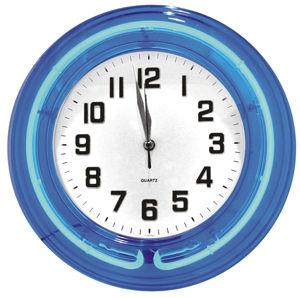 Neon Blue Clock