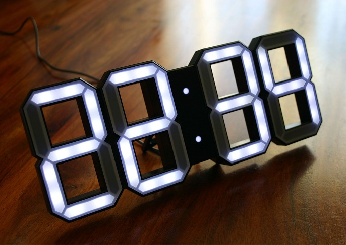 Neon Digital Clock