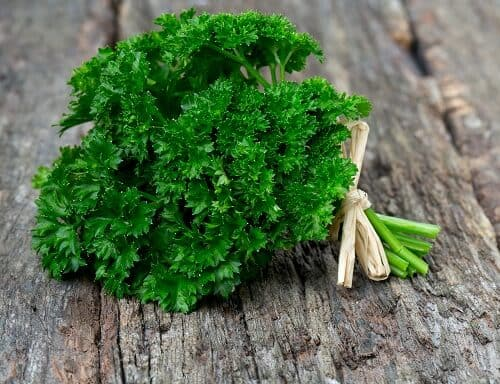 parsley for bedwetting
