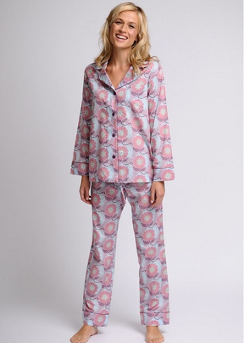 Peach Color Full Sleeved Pajamas