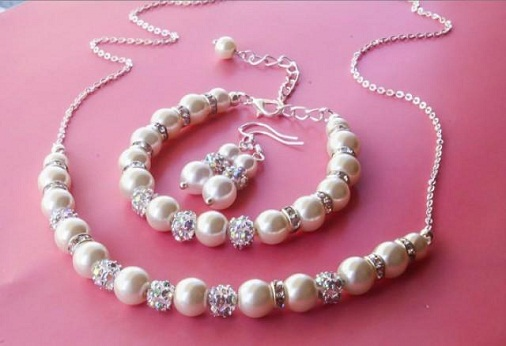 Pearl Necklace Set Birthday Gift