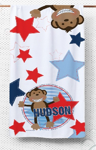 Personalized Boys kids Towels