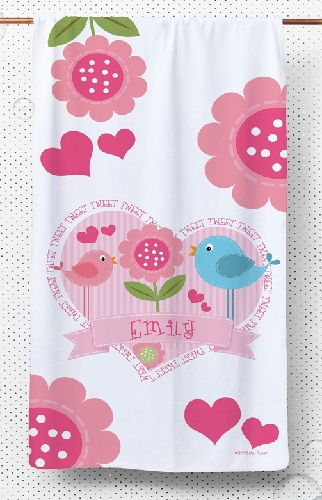 Personalized Girls kids Towels