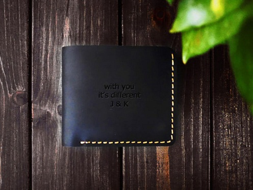 Personalized Men's Wallet Birthday Gifts