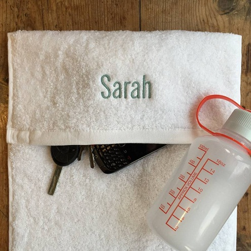 Personalized gym towel