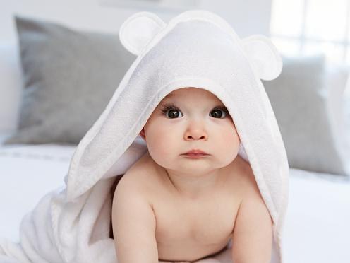 Plain white Hooded Towel