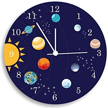Planets Kid's Clock