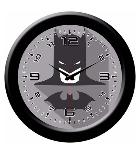 Plastic Black Designer Wall Clocks