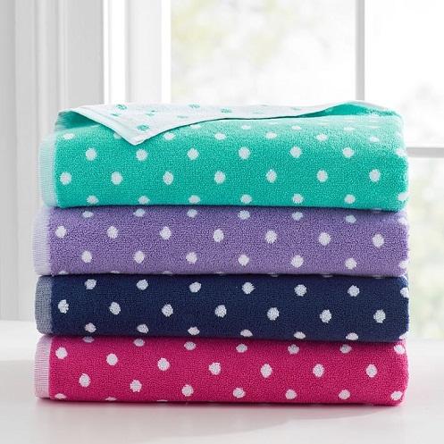 Polka Dot oversized Bath Towel