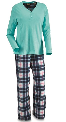 Polyester Printed Pajama Set for Ladies