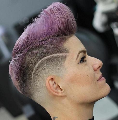 Pompadour Punk Haircut