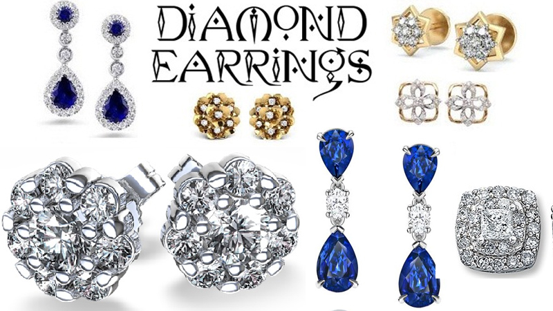 Popular and Latest Diamond Earrings Jewellery Designs