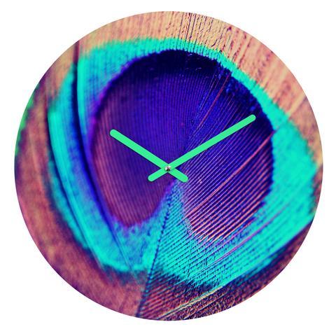 Pretty Peacock Round Clock