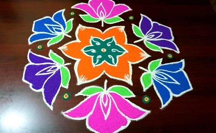 9 Best 15 Dots Rangoli Designs Styles At Life