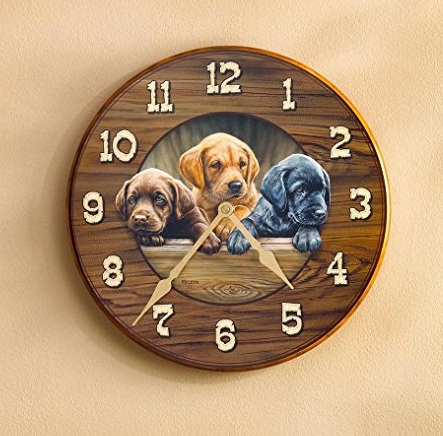 Puppies Round Clock