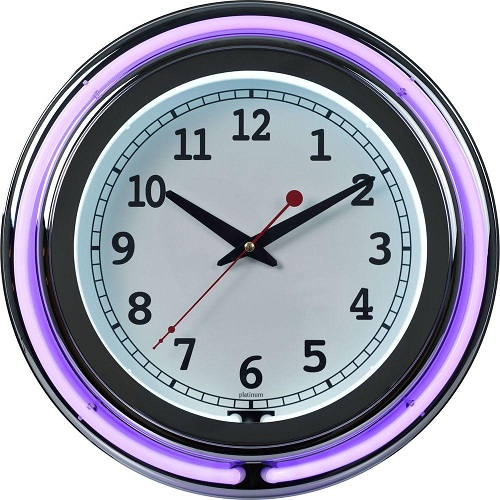 Purple Neon Clock