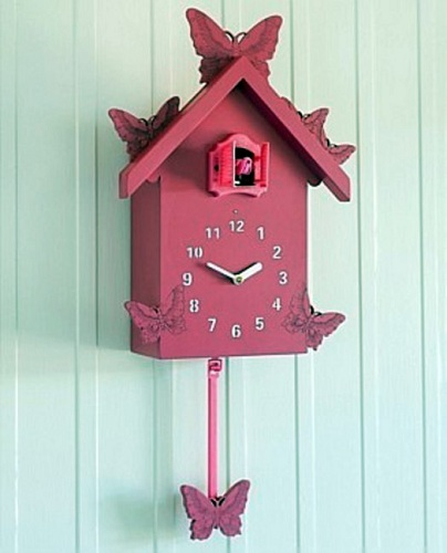 Recyclable Pink Cuckoo Clocks
