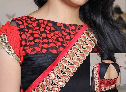 45 Awesome Collection Of Blouse Back Neck Designs To Keep It Stylish