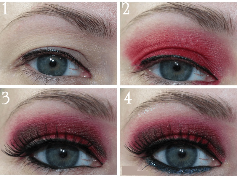 Red Eye Makeup Looks