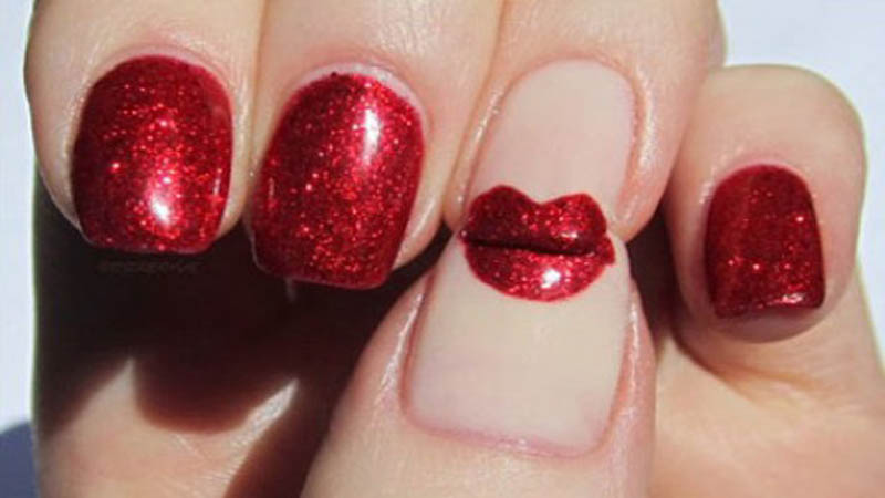 best red nail art designs