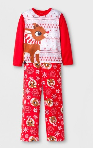 Red- Nose Reindeer Pajama Set