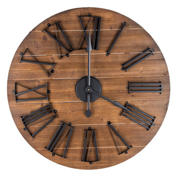 Round Natural and Wooden Wall Clock