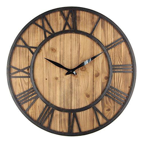 Rustic Vintage Metal & Wood Clock