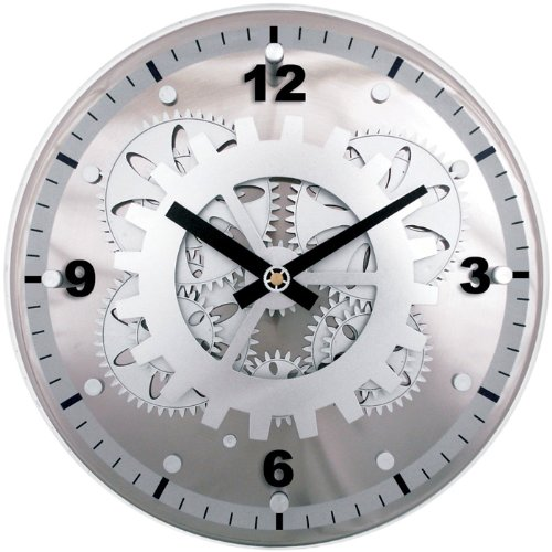 Silver Mechanical Clock