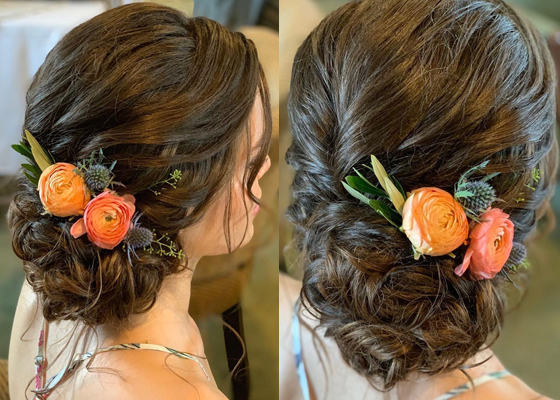 Simple Bridal Bun Style
