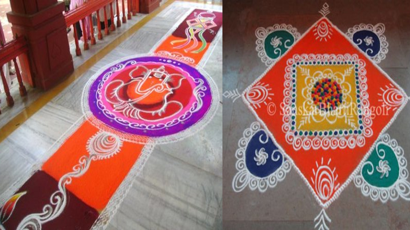 Simple Galicha Rangoli Designs