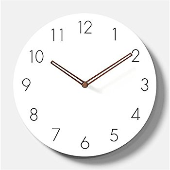 Simple Modern White Round Wooden Wall Clock