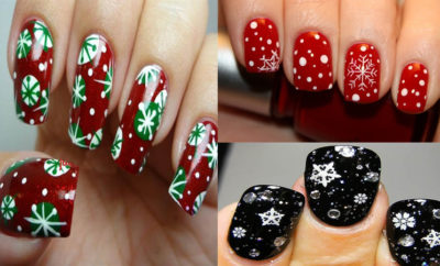 Simple Snowflake Nail Art Designs with Images