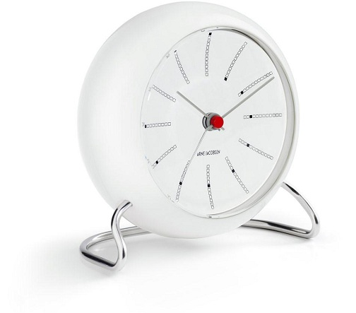 Sleek Designed White Desk Clocks