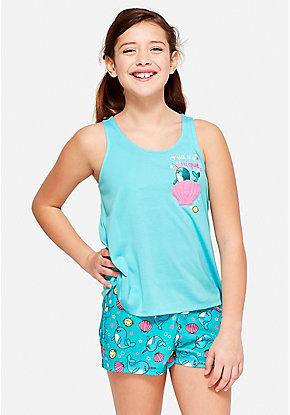 Sleeveless Kids Pajama Set