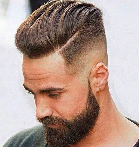 Slick Back Pompadour