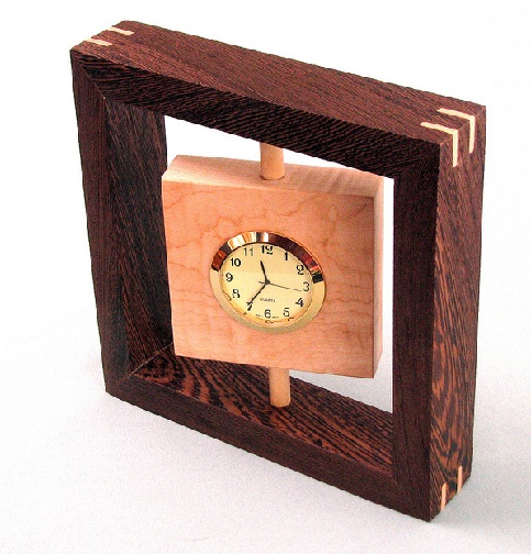 Small Wooden Clock